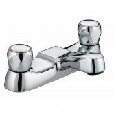 Bristan Value Club Bath Filler Tap - Chrome Plated with Metal Heads