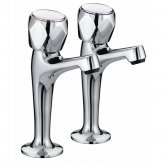 Bristan Value Club High Neck Kitchen Sink Taps, Pair, Chrome