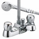 Bristan Value Club Luxury Bath Shower Mixer Tap - Chrome Plated with Metal Heads