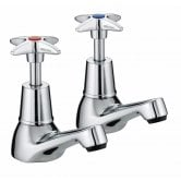 Bristan Value Crosshead Top Basin Taps - Chrome Plated