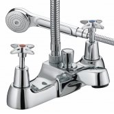 Bristan Value Crosshead Top Bath Shower Mixer Tap - Chrome Plated