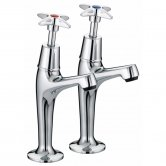 Bristan Value Crosshead High Neck Kitchen Sink Taps, Pair, Chrome
