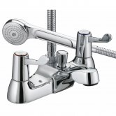Bristan Value Lever Bath Shower Mixer Tap - Chrome Plated with Ceramic Disc Valves