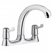 Bristan Value Lever Deck Kitchen Sink Mixer Tap, 3 Inch Handles, Chrome