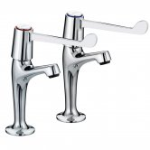 Bristan Value Lever Kitchen Sink Taps, 6 Inch Handles, Chrome