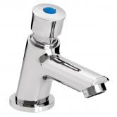 Bristan Z2 LUX Single Luxury Timed Flow Basin Tap with Flow Regulator, Chrome