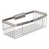 Britton Deep Rectangular Wire Soap Basket - Chrome