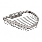 Britton Large Corner Wire Soap Basket - Chrome