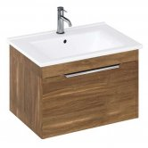 Britton Shoreditch Wall Hung 1-Drawer Vanity Unit 650mm Wide - Caramel