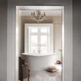 Burlington Admiral Roll Top Freestanding Bath 1640mm x 705mm - Including Surround