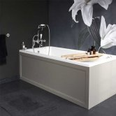 Burlington Arundel Traditional Rectangular Bath, 1700mm x 750mm, Acrylic