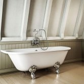 Burlington Avantgarde Back to Wall Bath 1700mm x 750mm - Excluding Feet