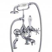 Burlington Birkenhead Bath Shower Mixer Tap, Pillar Mounted, Chrome