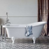 Burlington Buckingham Freestanding Slipper Bath 1500mm x 740mm - Excluding Feet