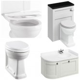 Burlington Furniture Bathroom Suite 980mm Wide RH Vanity Unit Sand - 0 Tap Hole
