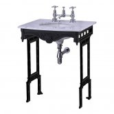 Burlington Georgian Marble Basin with Black Wash Stand, 650mm Wide, 2 Tap Hole