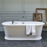 Burlington London Oval Freestanding Roll Top Bath 1800mm x 850mm - Including Surround