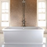 Burlington London Rectangular Freestanding Bath 1800mm x 850mm - Including Surround