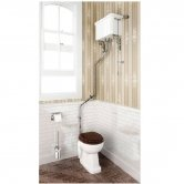 Burlington Regal High Level Toilet Angled White Ceramic Cistern - Excluding Seat