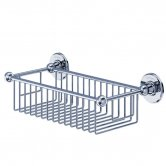 Burlington Traditional Deep Wire Basket, Wall Mounted, Chrome