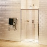 Burlington Traditional Sliding Shower Door, 1100mm Wide, 8mm Glass