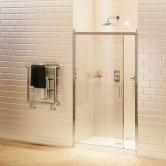 Burlington Traditional Sliding Shower Door, 1400mm Wide, 8mm Glass