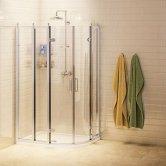 Burlington Traditional Offset Quadrant Shower Enclosure, 1200mm x 900mm, 8mm Glass