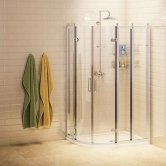 Burlington Traditional LH Offset Quadrant Shower Enclosure, 1200mm x 900mm, 8mm Glass