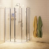 Burlington Traditional RH Offset Quadrant Shower Enclosure, 1000mm x 800mm, 8mm Glass