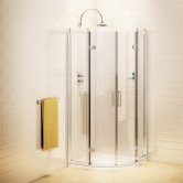 Burlington Traditional Quadrant Shower Enclosure with Tray, 800mm x 800mm, 8mm Glass
