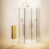 Burlington Traditional Quadrant Shower Enclosure, 800mm x 800mm, 8mm Glass