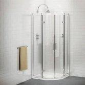 Burlington Traditional Quadrant Shower Enclosure with Tray, 900mm x 900mm, 8mm Glass