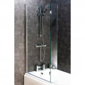 Cali Bath Screen with Hinged End Panel 1400mm High