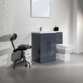 Cali Maze L Shaped Combination Unit with LH Mid Edge Basin - 1090mm Wide - Anthracite