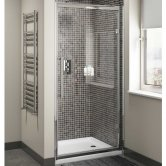 Cali Cass Eight Hinged Shower Door 700mm Wide - 8mm Glass