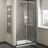 Cali Cass Eight Sliding Shower Door - 1000mm Wide - 8mm Glass