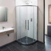 Cali Cass Eight Quadrant Shower Enclosure - 800mm x 800mm - 8mm Glass