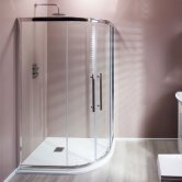 Cali Cass Eight Offset Quadrant Shower Enclosure - 900mm x 760mm - 8mm Glass