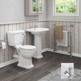 Cali Cromford Traditional Bathroom Suite 2 Tap Hole