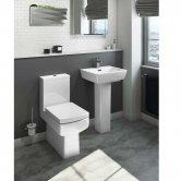 Cali Daisy Lou Value Bathroom Suite - Close Coupled Toilet - 1 Tap Hole Basin