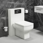 Cali Daisy Lou PolyMarble WC Shroud Unit with Toilet Pan and Seat + Cistern - Gloss White
