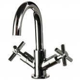 Cali Dune Mono Basin Mixer Tap Deck Mounted with Click Clack Waste - Chrome