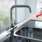 Cali Instant Boiling Water Kitchen Tap with Boiler and Carbon Filter - Chrome