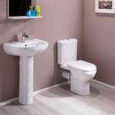 Cali Value Bathroom Suite - Close Coupled Toilet - 1 Tap Hole Basin