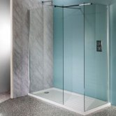 Cali Lana Easy Clean Wet Room Glass Panel 1200mm Wide - 10mm Glass