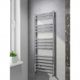 Cali Luxe Straight Heated Towel Rail 800mm H x 600mm W Stainless Steel