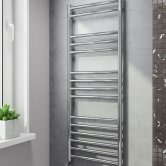 Cali Luxe Straight Heated Towel Rail 1200mm H x 600mm W Stainless Steel