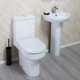Cali Montego Value Bathroom Suite - Close Coupled Toilet - 1 Tap Hole Basin
