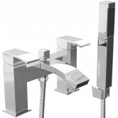 Cali Peak Waterfall Bath Shower Mixer Tap Pillar Mounted - Chrome