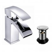 Cali Peak Mono Cloakroom Basin Mixer with Click Clack Waste - Chrome